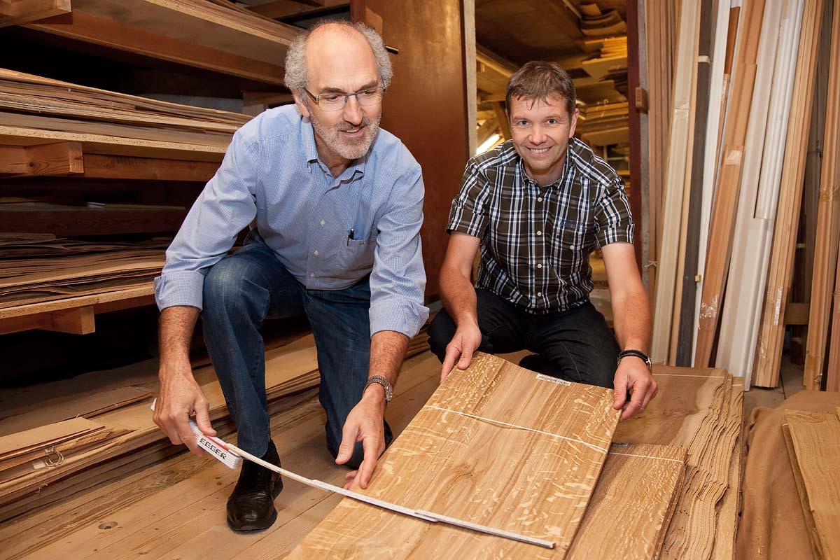 Martin Finauer und Johann Huber nehmen Maß