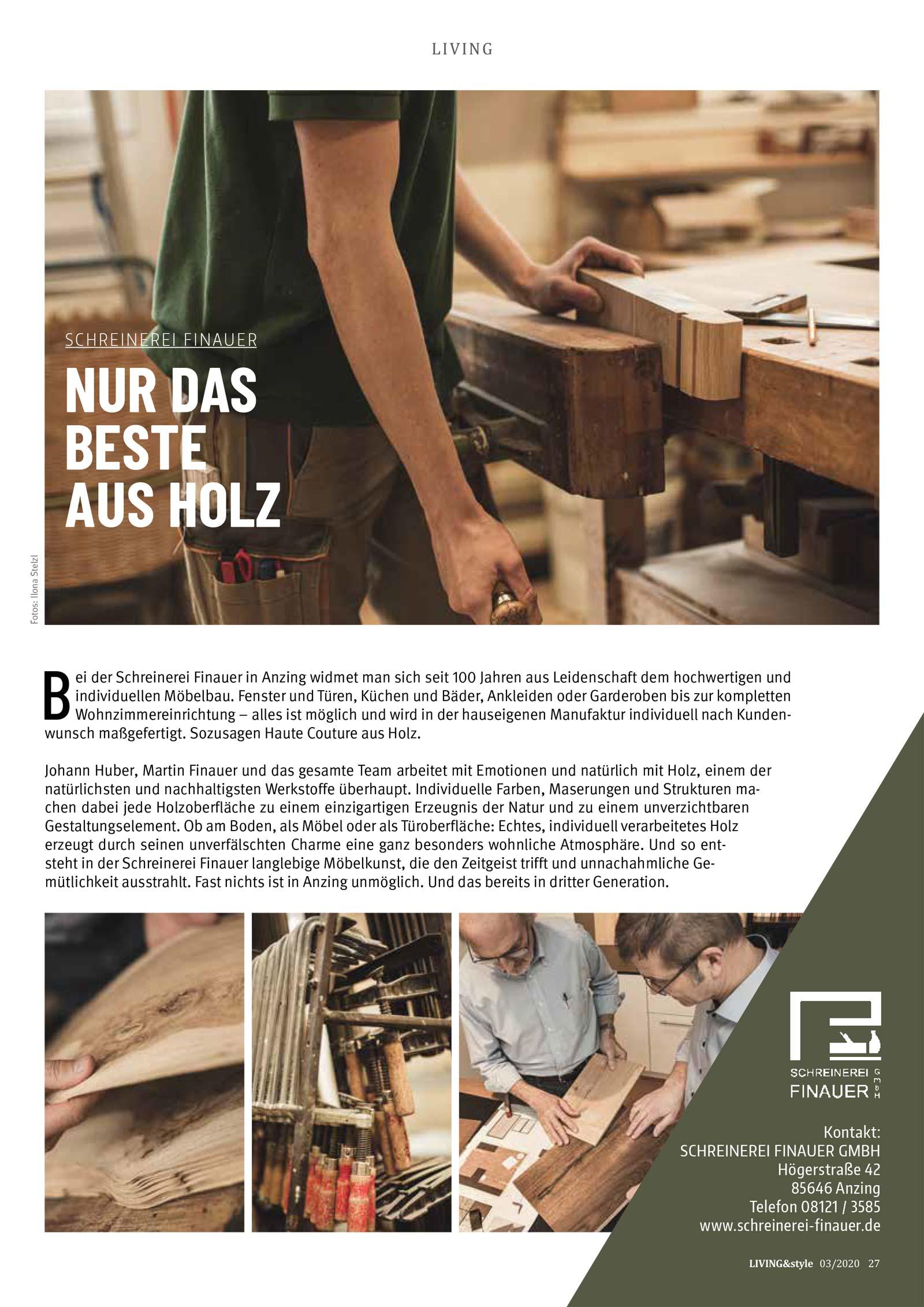 Schreinerei Finauer GmbH Anzing